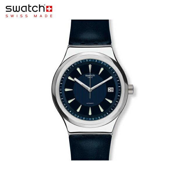 【公式ストア】Swatch スウォッチ SISTEM LAKE システム・レイク YIS420sistem51(システム51) Sistem51 Irony(システム51 アイロニー) 【送料無料】(素材)ベルト:皮革 ケース:ステンレススチールメンズ 腕時計 人気 定番 プレゼント