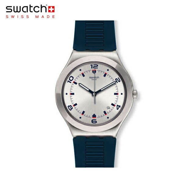 【公式ストア】Swatch スウォッチ BRUT DE BLEU ブリュット・デ・ブル YWS431irony(アイロニー) Irony Big Classic(アイロニービッククラッシック) 【送料無料】(素材)ベルト:ゴム製 ケース:ステンレススチールメンズ 腕時計 人気 定番 プレゼント
