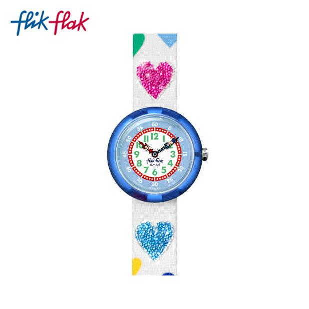 【公式ストア】Flik Flak フリックフラック LOVE MY HEART ラブ・マイ・ハート FBNP116Swatch(スウォッチ) Story Time(ストーリータイム) 【送料無料】(素材)ベルト:繊維 ケース:プラスチックキッズ ガールズ 腕時計 人気 定番 プレゼント