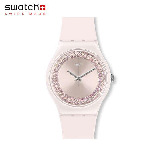 【公式ストア】Swatch スウォッチ PINKSPARKLES ピンクスパークルズ SUOP110Originals(オリジナルズ) New Gent(ニュージェント) 【送料無料】(素材)ベルト:シリコン ケース:プラスチックレディース 腕時計 人気 定番 プレゼント