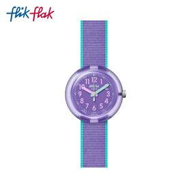 【公式ストア】Flik Flak フリックフラック COLOR BLAST LILAC カラー・ブラスト・ライラック FPNP044Swatch(スウォッチ) Power Time 5+(パワータイム5+) 【送料無料】(素材)ベルト:繊維キッズ ガールズ 腕時計 人気 定番 プレゼント