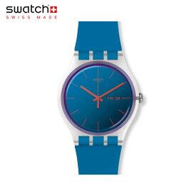 【公式ストア】Swatch スウォッチ POLABLUE ポーラブルー SUOK711Originals(オリジナルズ) New Gent(ニュージェント) 【送料無料】(素材)ベルト:シリコン ケース:プラスティックメンズ レディース 腕時計 人気 定番 プレゼント