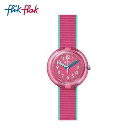 【スーパーSALE期間中ポイント10倍】【公式ストア】Flik Flak フリックフラック COLOR BLAST PINK カラー・ブラスト・ピンク FPNP047Swatch(スウォッチ) Power Time 5+(ストーリー・タイム 5+) 【送料無料】(素材)ベルト:繊維ボーイズ ガールズ 腕時計