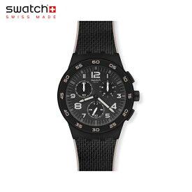 【公式ストア】Swatch スウォッチ BLACK CORD ブラック・コード SUSB106Originals(オリジナルズ) New Chrono Plastic(ニュー・クロノ・プラスチック) 【送料無料】(素材)ベルト:バイマテリアルメンズ レディース 腕時計 人気 定番 プレゼント