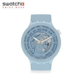 【公式ストア】Swatch スウォッチ C-BLUE シーブルー SB03N100Originals(オリジナルズ) Big Bold(ビッグ・ボールド) 【送料無料】(素材)ベルト:バイオ由来素材 ケース:バイオ由来素材メンズ レディース 腕時計 人気 定番 プレゼント くすみ パステル
