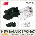 ニューバランス new balance WX467 スニーカー ジムフィットネス ウォーキング レディース ladies 女性用 ホワイト/ピンク ブラック/22.0 22.5 23.0 23.5 2