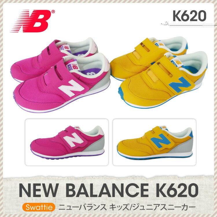 ニューバランス new balance K620 キッズ/ジュニアスニーカー 子供用 キッズ ピンク(PK) イエロー(SA)/12.0 12.5 13.0 13.5 14.0 14.5 15.0 15.5 16.0 16.5 17.0 17.5 18.0 18.5 19.0 19.5 20.0 20.5 21.0 21.5