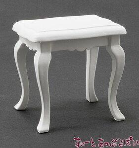 ミニチュア サイドテーブル ホワイト CLA10300 ドールハウス用