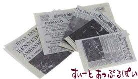 ミニチュア 新聞紙 5枚セット IM65334 ドールハウス用