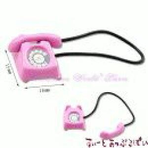 ミニチュア ピンクの電話 MWB15P ドールハウス用
