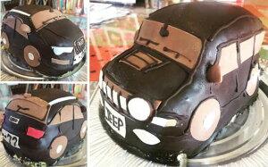 チョコ仕上げ 3D乗り物立体型ケーキ 車5号   ギフト 誕生日 バースデーケーキ ケーキ パーティ サプライズ キャラクターケーキ 動物 デコレーションケーキ 還暦 お祝い 結婚記念日 ウ