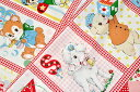YUWA 「 松山敦子 30's HappyBabyパネル 」 生地 かわいい レトロ ポップ ベビー 赤ちゃん
