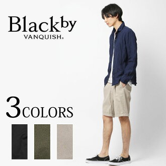 Black by VANQUISH stretch picket tuck shorts (BVB086) shorts short pants are casual