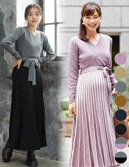 【mamagirl掲載】気品プリーツワンピ