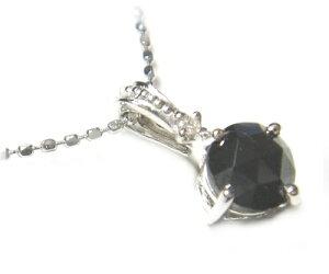 【ローズカット】ブラックダイヤネックレス