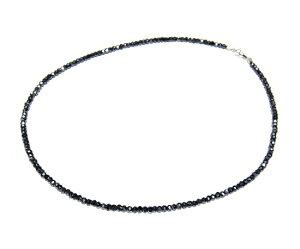 【タイムセール】【2種】【コーティング】K18WG使用!ブラックダイヤを越える輝き!35ctUPブラックスピネルネックレス