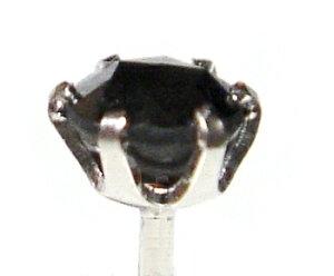 【ローズカット】【お試し価格】計0.30ctブラックダイヤモンドスタッドピアス