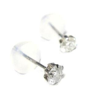 超お買い得定番ティファニー爪!Pt計0.30ctダイヤモンドスタッドピアス