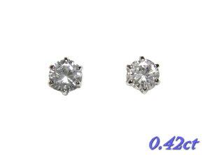 【片耳用】選べる定番のティファニー爪!Pt0.18ctUPダイヤモンドスタッドピアス【半ペア】【メール、ネコポス送料無料】