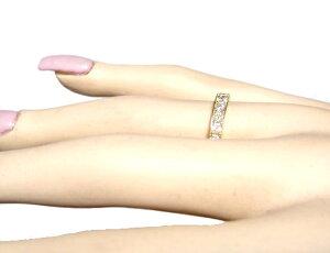 【2019念特価】【楽天ランキング4位】【ハーフエタニティー】ファンシーカラーの23石計1.00ctダイヤモンドリング【デイリー,指輪-ピンクゴールド(10/19)】