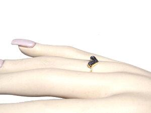 【予約】【楽天ランキング2位】照りのいいパヴェ!キュートハート計0.15ctブラックダイヤリング【リアルタイム,アクセサリー-指輪(9/20-2)】