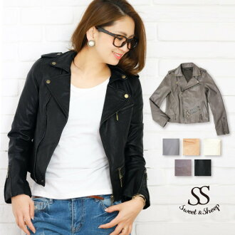 ★ Sweet &Sheep rider leather jacket ★ 2 color