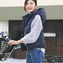 ダウンベスト ジャケット レディース ダウン ライトアウター フード付き 大人 ネイビー きれいめ 秋 冬 軽量 防寒 フード ママ コンパ…