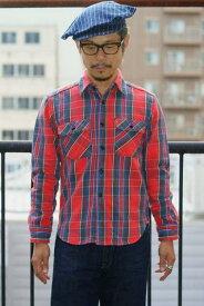 """JELADO (ジェラード) ヘヴィーネルシャツ (ショート丈) JP42133 """"Unionworkers Shirts (ユニオンワーカーズシャツ)"""" インディゴ"""