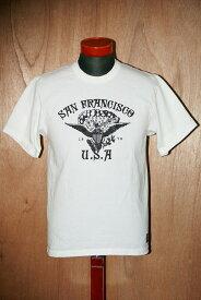 """代引手数料・送料無料 DELUXEWARE (デラックスウエア) 半袖Tシャツ DLT-1501B """"SANFRANCISCO"""" ホワイト"""