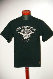 """代引手数料・送料無料 DELUXEWARE (デラックスウエア) 半袖Tシャツ DLT-1501B """"SANFRANCISCO"""" ブラック"""
