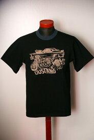 """代引手数料・送料無料 DELUXEWARE (デラックスウエア) 半袖Tシャツ DLT-1503B """"DUSTANG"""" ブラック"""