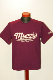 """代引手数料・送料無料 DELUXEWARE (デラックスウエア) 半袖Tシャツ DLT-1602F """"MIAMI MOTORCYCLE"""" トップパープル"""