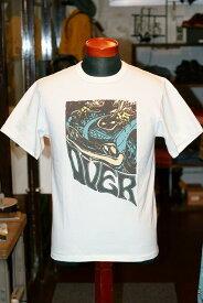 """代引手数料・送料無料 DELUXEWARE (デラックスウエア) 半袖Tシャツ 7004 """"OVER"""" ホワイト"""