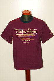 """代引手数料・送料無料 DELUXEWARE (デラックスウエア) 半袖Tシャツ DLT-1604B """"MAGNAT DEBON"""" トップパープル×フットブルー"""