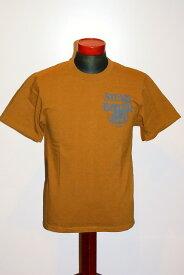 """代引手数料・送料無料 DELUXEWARE (デラックスウエア) 半袖Tシャツ DLT-31 """"STEAM BOILER"""" RESINE (マスタード)"""