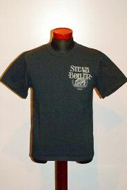 """代引手数料・送料無料 DELUXEWARE (デラックスウエア) 半袖Tシャツ DLT-31 """"STEAM BOILER"""" インクブラック"""