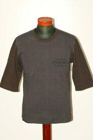 """代引手数料・送料無料 DELUXEWARE (デラックスウエア) 7分袖Tシャツ URES-03 """"GOLD RUSH"""" ネイビー"""