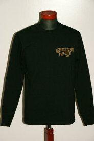 """代引手数料・送料無料 DELUXEWARE (デラックスウエア) 長袖Tシャツ DLL-04 """"RAIL ROAD"""" ブラック"""