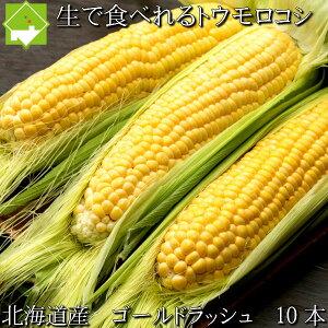 とうもろこし 送料無料 低農薬栽培 北海道産 生で食べれる ゴールドラッシュ 10本 別途送料が発生する地域あり 日時指定不可