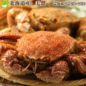 毛ガニ お歳暮 お中元 北海道産 毛蟹 2kg 2尾から8尾入り 送料無料