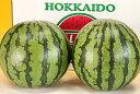 【北海道富良野産】有機肥料でとっても甘く育ったスイカ Lサイズ 2玉入り 【送料無料】 【10P03Dec16】