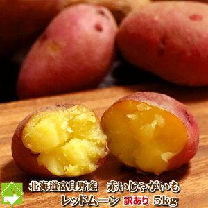 じゃがいも 訳あり 北海道 富良野産 希少な赤いジャガイモ レッドムーン 5kg