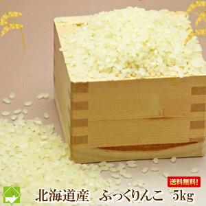 白米 5kg 送料無料 令和元年産 北海道産 冷めても美味しいお米 ふっくりんこ 5kg