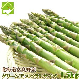グリーンアスパラガス 北海道富良野産 Lサイズ 1.5kg 送料無料