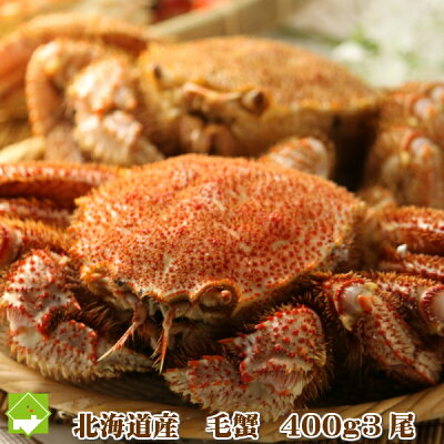 【送料無料】北海道釧路産最高級毛蟹[2〜4尾入約2kg詰]