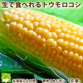 とうもこし 生で食べられる 北海道 富良野産 恵味 2Lサイズ 10本入り 送料無料 別途送料が発生する地域あり