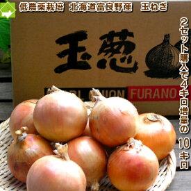 たまねぎ 送料無料 北海道富良野産低農薬であま〜い 玉葱 3kg(15玉前後)2セット購入で4kg増量