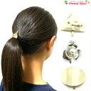 ポニーフック メタル 楕円 三角 フラワー (1コ) | ヘアーフック 金 銀 ゴールド シルバー ヘアピン 髪留め 髪飾り …