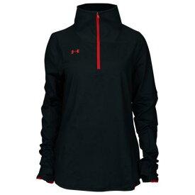 (取寄)アンダーアーマー レディース チーム ニット 1/2 ジップ Underarmour Women's Team Knit 1/2 Zip Black Red【outdoor_d19】
