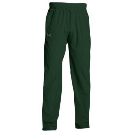 (取寄)アンダーアーマー メンズ チーム スクウォッド ウーブン ウォーム アップ パンツ Under Armour Men's Team Squad Woven Warm Up Pants Forest Green Steel